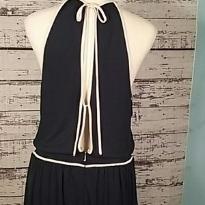 Juicy Couture Large dress open back halter navy